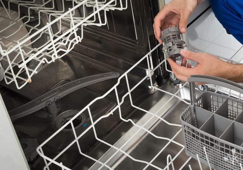 What are some common causes of a dishwasher that won't drain?